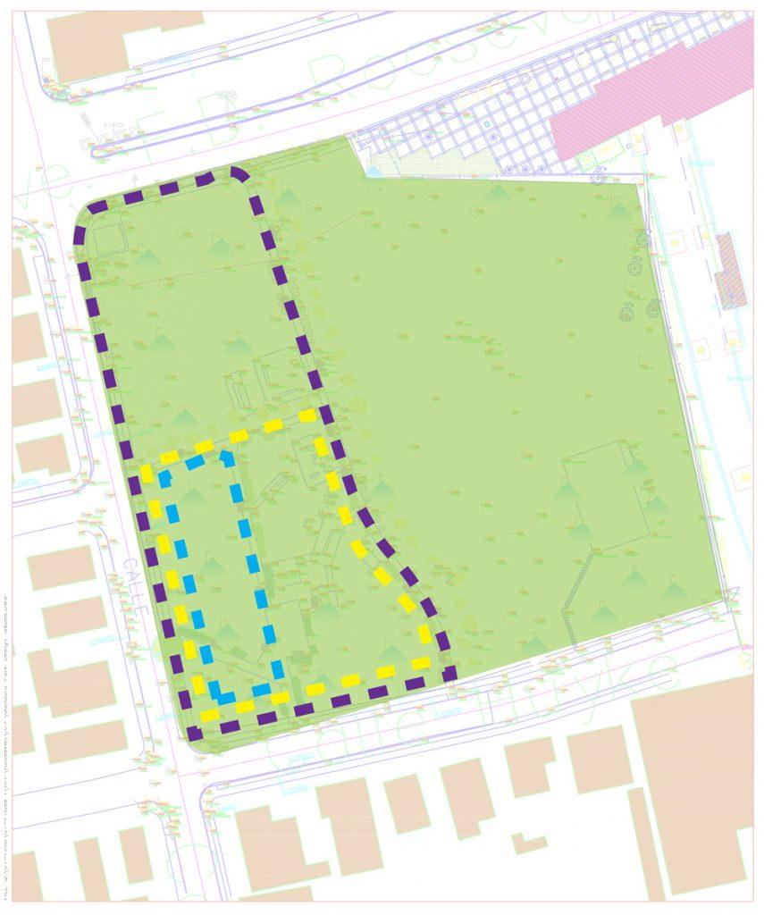 Plano de distancias en Parque Gandara