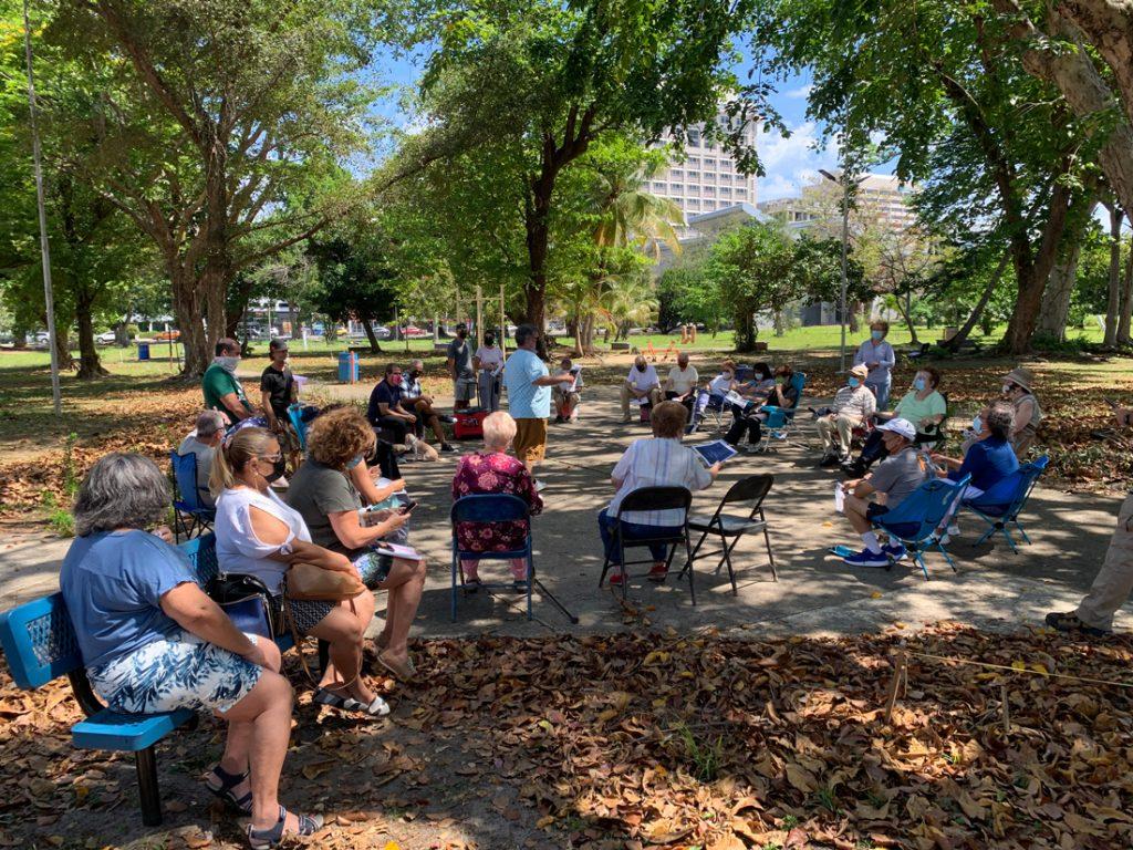 Primera reunión de Barrio Parque Gándara