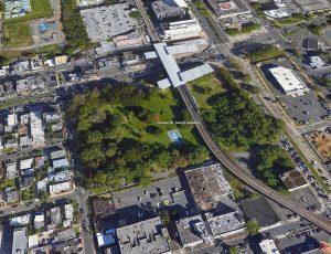 Foto aérea del Parque gándara. Goggle map. Amigos del parque gándara